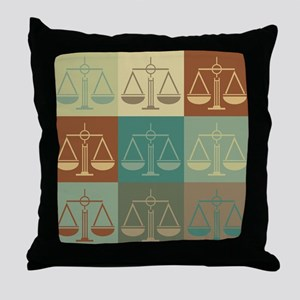 Law Pop Art Throw Pillow